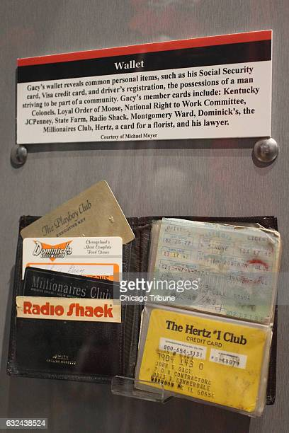 Serial killer John Wayne Gacy's wallet with contents is one of the more curious exhibits at the Alcatraz East Crime Museum in Pigeon Forge