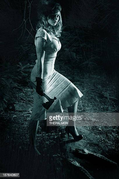 serial killer woman - redoubtable film stock photos and pictures