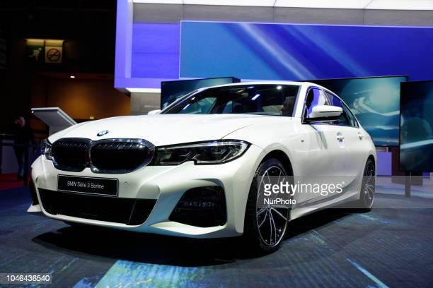 BMW Serie 3 during Mondial Paris Motor Show in Paris France on 4 October 20178 The Mondial Paris Motor Show Paris 2018 evolves with the new...