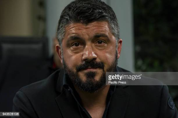 Serie A football AC Milan versus US Sassuolo Gennaro Gattuso head coach of Milan