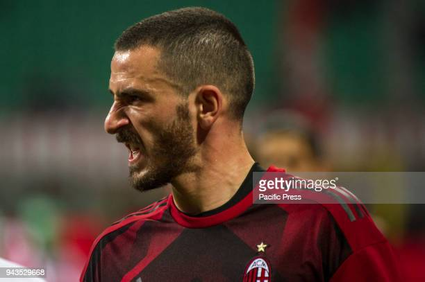 Serie A football AC Milan versus US Sassuolo Leonardo Bonucci of AC Milan