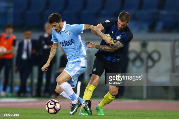 Serie A Lazio v Inter Luis Alberto of Lazio and Davide Santon of Internazionale at Olimpico Stadium in Rome Italy on May 21 2017
