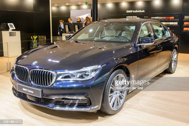 BMW 7 series 750 Ld Xdrive luxury limousine car rear view The BMW 7 Series G11/G12 is a fullsize luxury car manufactured by German automaker BMW and...