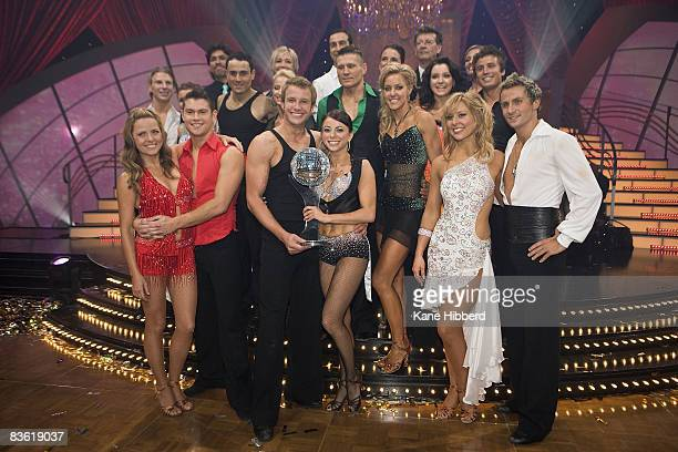 Series 8 Dancers attend the grand final event for Dancing With The Stars 2008 at the Channel Seven studios on November 8 2008 in Melbourne Australia