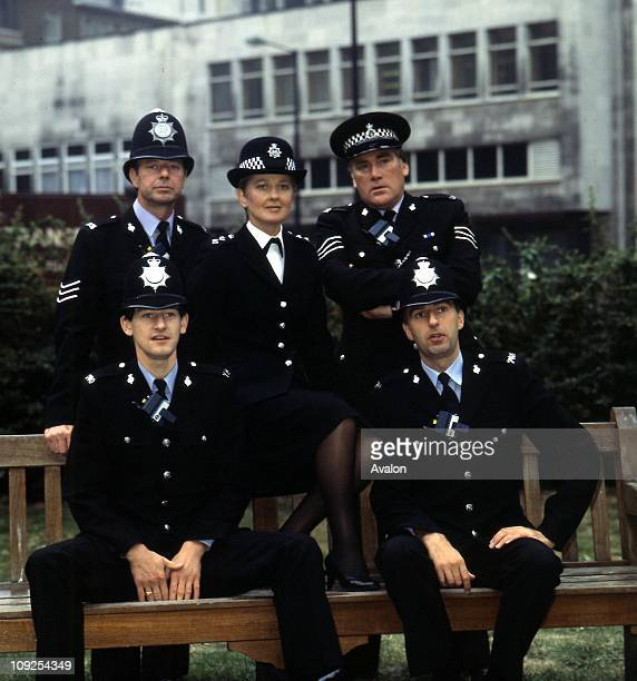 Series Cast Of 'juliet Bravo' Back Row Left to Right NOEL COLLINS ANNA CARTERET and DAVID ELLISON Front Row Left MARK BOTHAM and Right CJ ALLEN