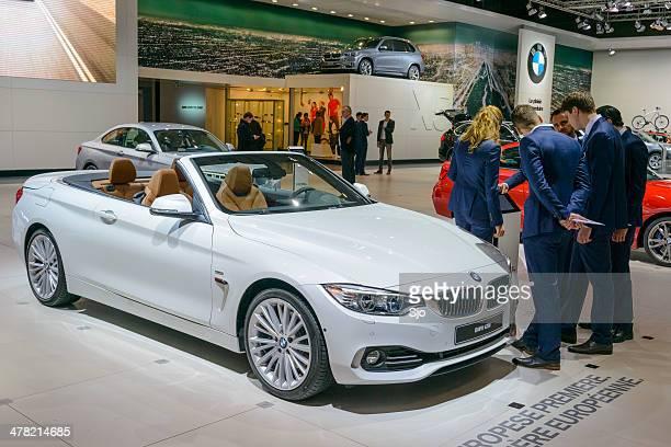 bmw 4 series convertible - bmw stock pictures, royalty-free photos & images