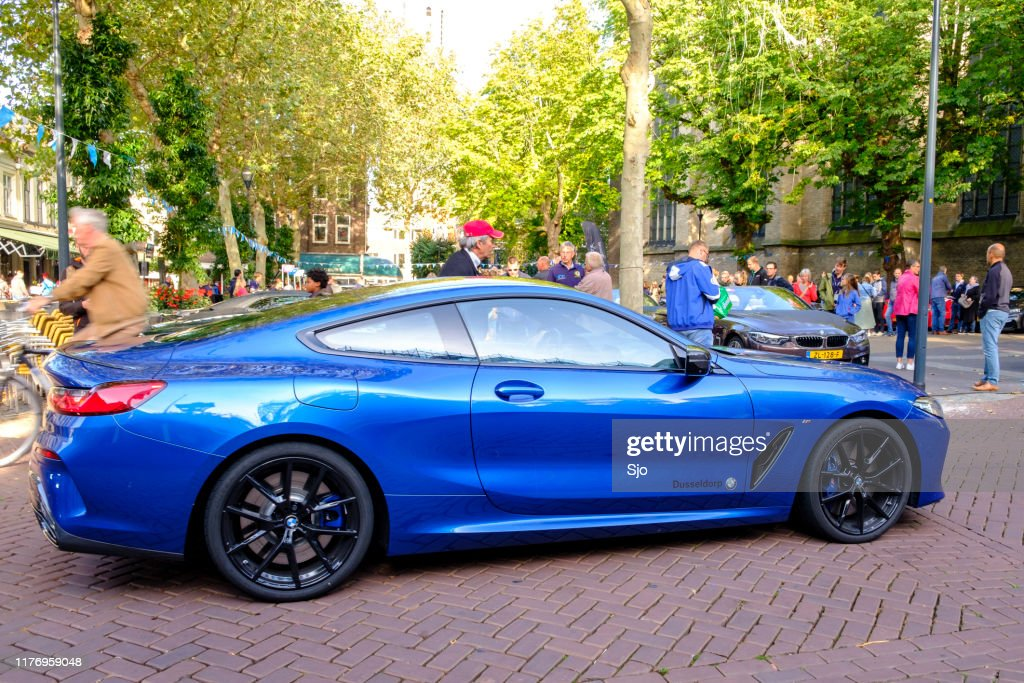 BMW 8 Series Coupe - BMW M850i exclusive sports car : Stock Photo