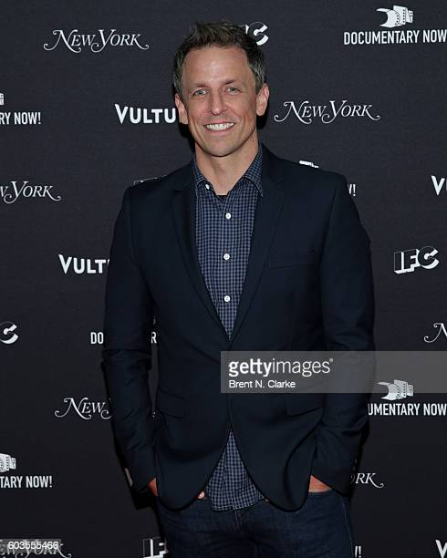 Series creator/writer Seth Meyers attends IFC's Documentary Now Season 2 Premiere held at The New Museum on September 12 2016 in New York City
