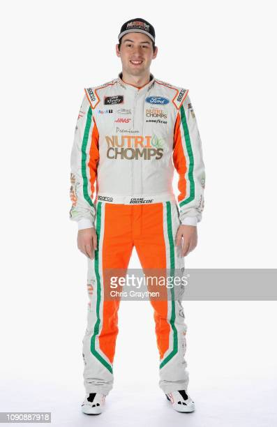 Series driver Chase Briscoe poses for a portrait during the NASCAR Production Photo Days at Charlotte Convention Center on January 29 2019 in...