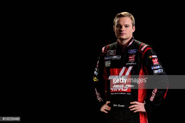 Series driver Cole Custer poses for a portrait during the NASCAR Media Tour at Charlotte Convention Center on January 23 2018 in Charlotte North...
