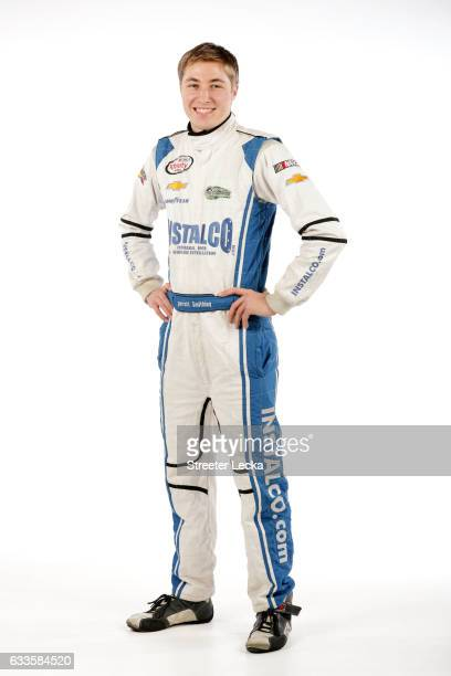 Series driver Garrett Smithley poses for a photo during the 2017 Media Tour at the Charlotte Convention Center on January 25 2017 in Charlotte North...