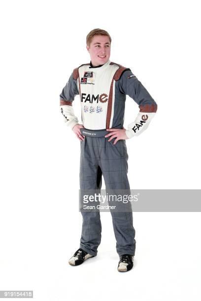 Series driver Garrett Smithley poses for a portrait at Daytona International Speedway on February 16 2018 in Daytona Beach Florida