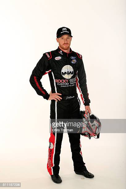 Series driver Jeb Burton poses for a photo at Daytona International Speedway on February 18 2016 in Daytona Beach Florida