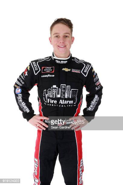 Series driver John Hunter Nemechek poses for a portrait at Daytona International Speedway on February 16 2018 in Daytona Beach Florida