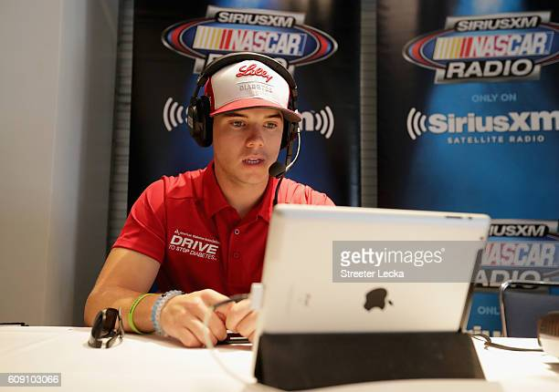 Series driver Ryan Reed speaks to the media during the NASCAR XFINITY Series Chase Media Day at NASCAR Hall of Fame on September 20 2016 in Charlotte...
