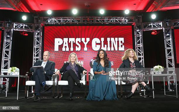 "Series executive producer Michael Kantor actress Beverly D'Angelo director/producer Barbara Hall and singer/songwriter Mickey Guyton of '""Patsy Cline..."