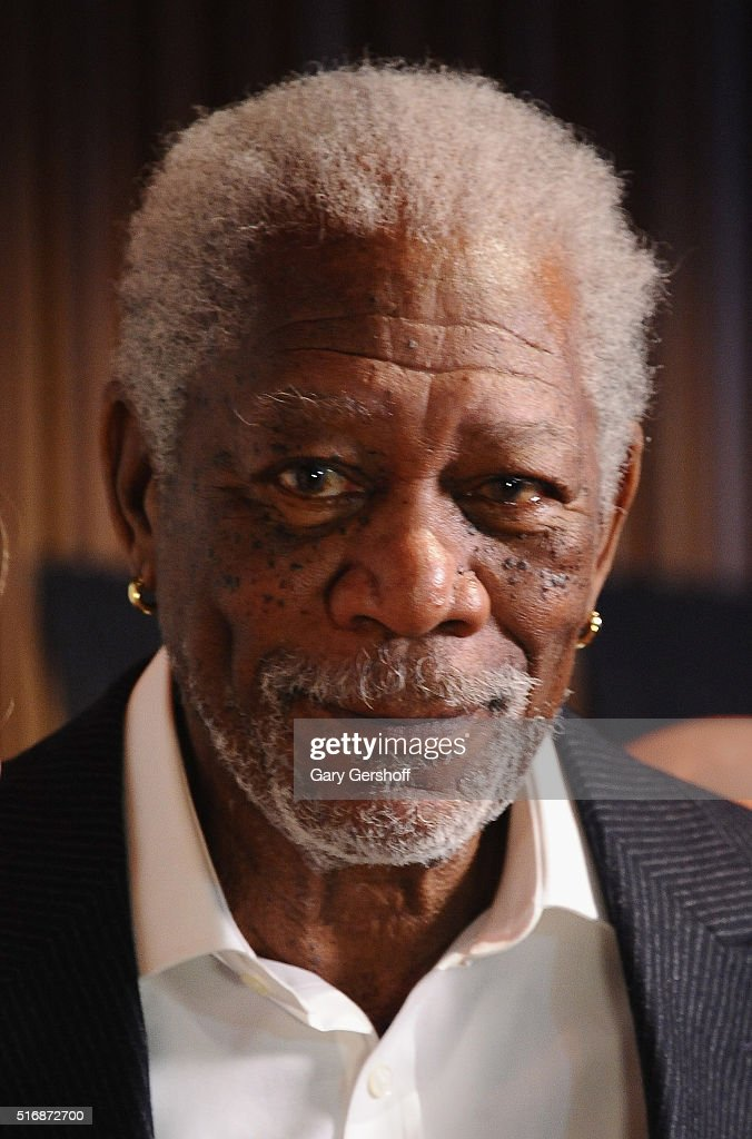 Series executive producer Morgan Freeman attends the National Geographic 'The Story Of God' with Morgan Freeman world premiere at Jazz at Lincoln Center on March 21, 2016 in New York City.