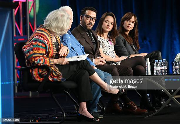 Series executive producer Rebecca Eaton writer/creator/executive producer Andrew Davies actor/producer Jeremy Piven actresses Zoe Tapper and Frances...