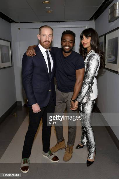 PLACE Series Forking Finale The cast of The Good Place celebrates the series finale with Seth Meyers from 30 Rock in New York NY Pictured Marc Evan...