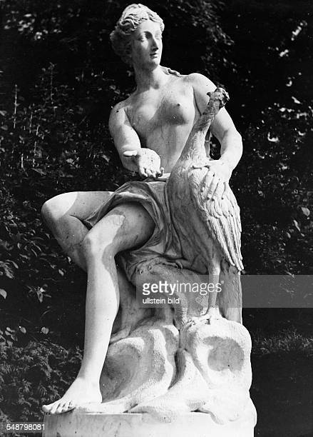 Germany Free State Prussia Brandenburg Province Potsdam Sculpture of a woman with a bird in the Sanssouci Park ca 1936 Photographer Heinz von...