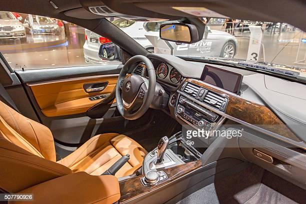 bmw série de 4 gran coupé luxo interior - quarta feira - fotografias e filmes do acervo