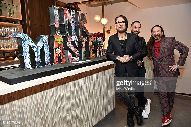 Series Host Dave Navarro Series Judge Chris Nunez and Series Judge Oliver Peck attend Spike's Ink Master100th episode party at NeueHouse Hollywood on...