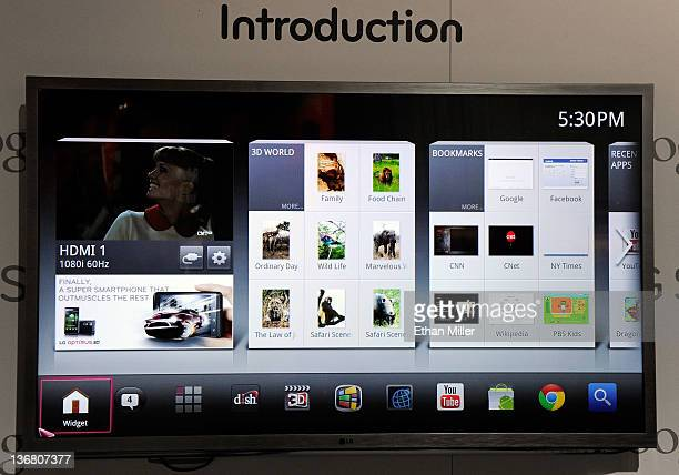 G6 series LG Smart TV with Google TV is displayed at the LG Electronics booth at the 2012 International Consumer Electronics Show at the Las Vegas...