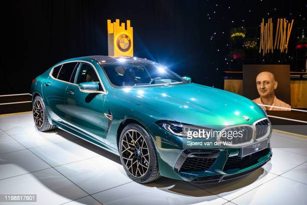Series M850i xDrive Gran Coupe fastback on display at Brussels Expo on January 8 2020 in Brussels Belgium The BMW 8 series is available as 2door...