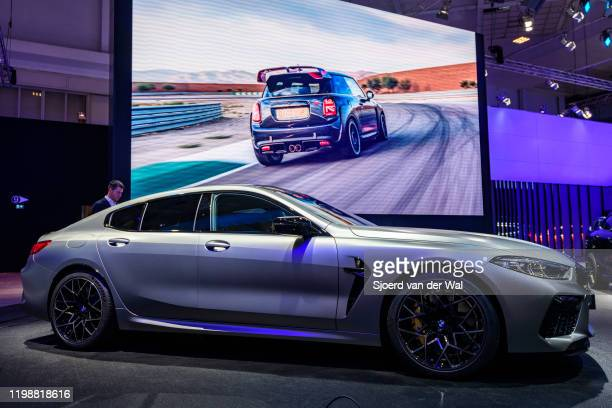 Series M850i xDrive Gran Coupe fastback on display at Brussels Expo on January 9 2020 in Brussels Belgium The BMW 8 series is available as 2door...