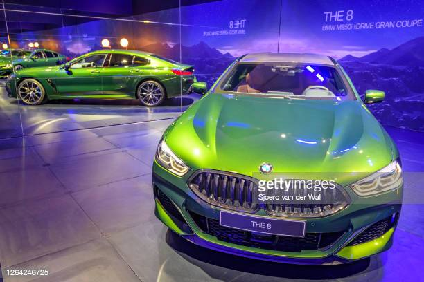 Series M850i xDrive Gran Coupe fastback on display at Brussels Expo on January 9, 2020 in Brussels, Belgium. The BMW 8 series is available as 2-door...