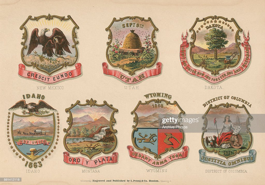 A series of color engravings of the Coats of Arms of various