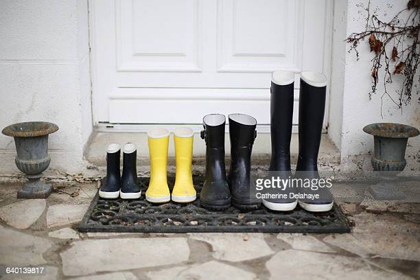 Series of different size boots