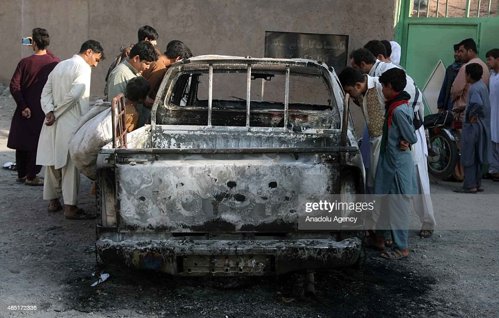 A series of explosions at a gas terminal in the western Afghan city of Herat has killed 12 people on August 25, 2015. The blast happened inside the compound of a gas supply company adjacent to a camp for internally displaced people.
