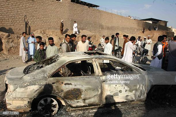 A series of explosions at a gas terminal in the western Afghan city of Herat has killed 12 people on August 25 2015 The blast happened inside the...