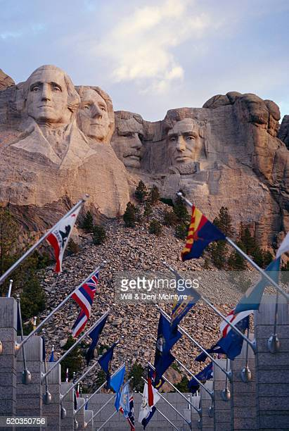 Series of Flags at Mount Rushmore