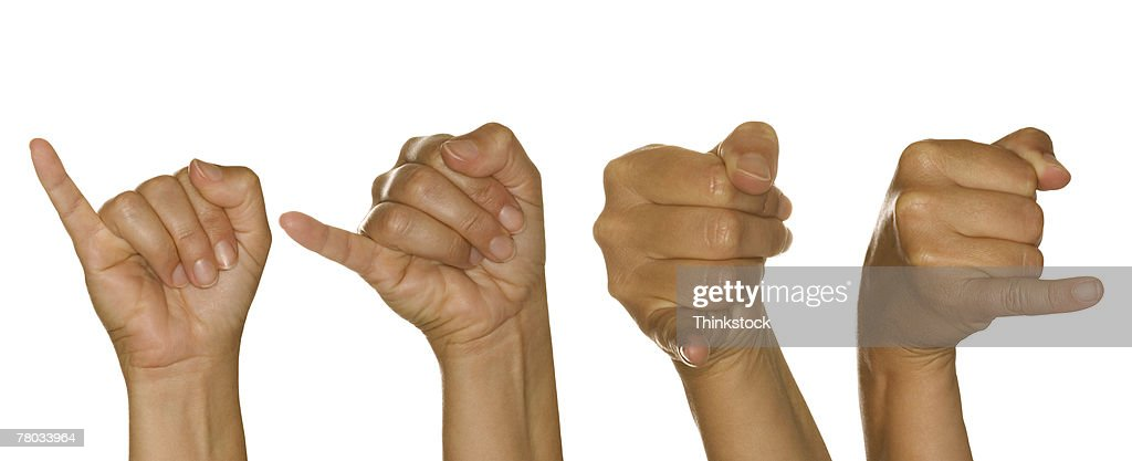 Series of hands making J sign : Stock Photo