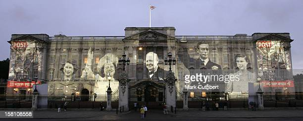 A Series Of Rarely Seen Images Showing Life In WarTime Britain During The Second World War Are Projected Onto Buckingham Palace To Mark The 60Th...