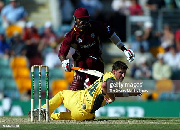 VB Series One Day International Cricket match at the Gabba between Australia and West Indies Images shows Australian Pace Bowler Michael Kasprowicz...