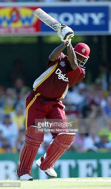 VB Series One Day International Cricket match at the Gabba between Australia and West Indies Images shows West Indies batsman Wavell Hinds in action...