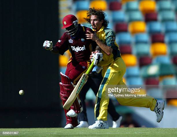 VB Series One Day International Cricket match at the Gabba between Australia and West Indies Images shows Australian Pace Bowler Jason Gillespie...