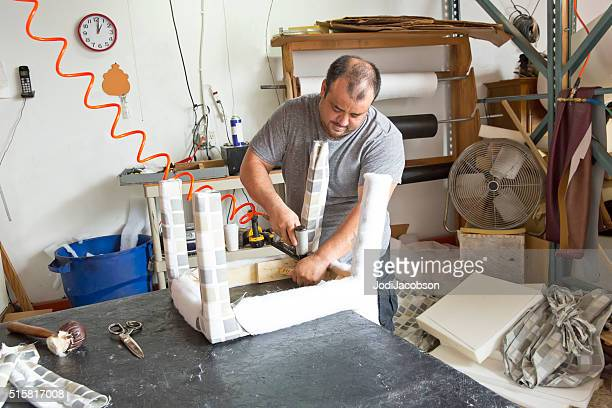 Series- Real Upholstry manufacturer working in his factory
