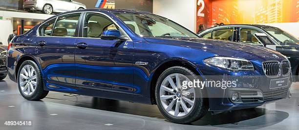 bmw 5 series sedan - 2015 stock pictures, royalty-free photos & images