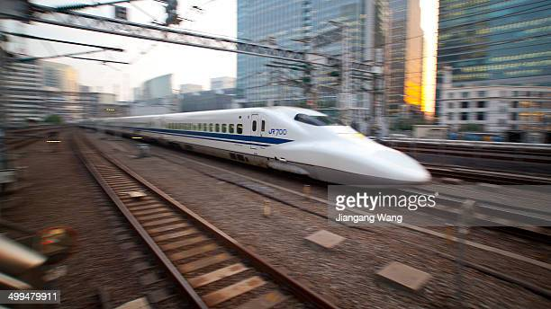 700 series Shinkansen arriving in Tokyo Station