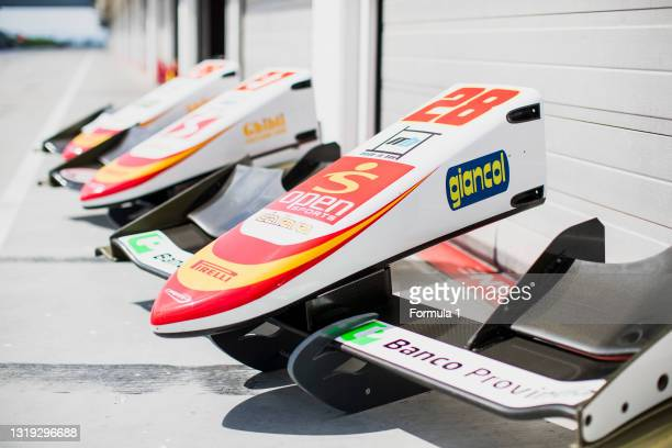 Series Test 4. .Hungaroring, Budapest, Hungary..Tuesday 6 June 2017..Campos Racing front nosecones.