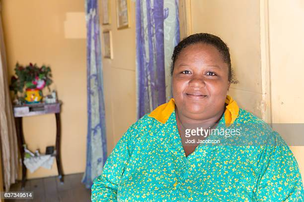 series:honduran wife in her home in roatan - images of fat black women stock photos and pictures