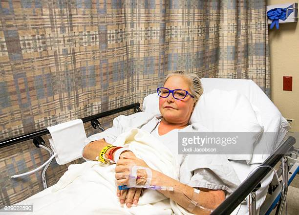 Series:Mid Age woman waiting to be wheeled into surgery