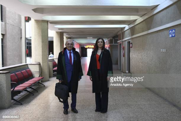 Serif Vural a lawyer poses for a photo with his 39yearold lawyer daughter Deniz Vural who had chosen the same field of profession with her father...