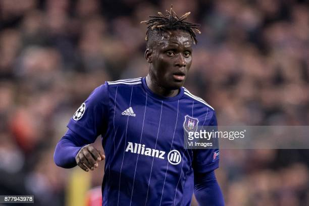 Serigne Mbodj of RSC Anderlecht during the UEFA Champions League group B match between RSC Anderlecht and Bayern Muenchen on November 22 2017 at...