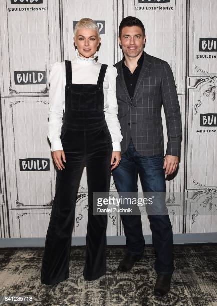 Serinda Swan and Anson Mount attend the Build Series to discuss the new show 'Inhumans' at Build Studio on August 31 2017 in New York City