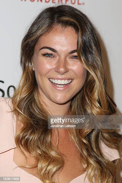 Serinda Swan attends the Life Is Love A Red Carpet Cocktail Event Hosted By AnnaLynne McCord Benefiting The Somaly Mam Foundation on September 22...